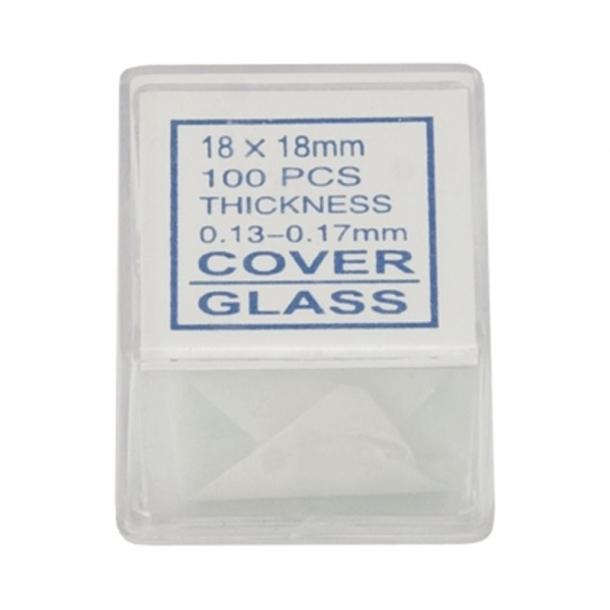 Dækglas til mikroskop, 100 stk