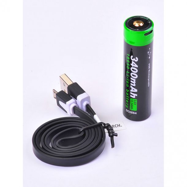 NEXTORCH18650 USB batteri