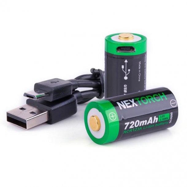 NEXTORCH RCR123A USB batteri