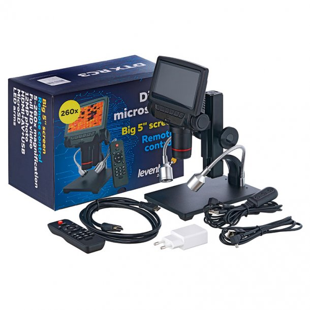 Levenhuk Digitalt mikroskop, 5x-260x