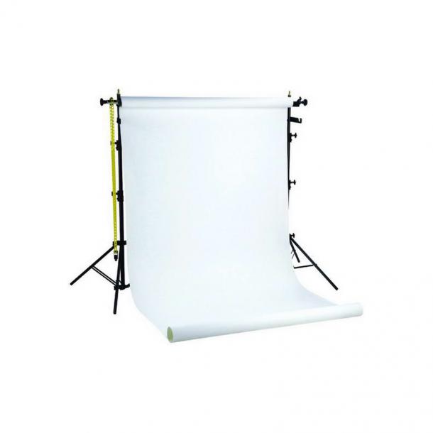 Linkstar Baggrundsløsning med hvid rulle 1,35x11m