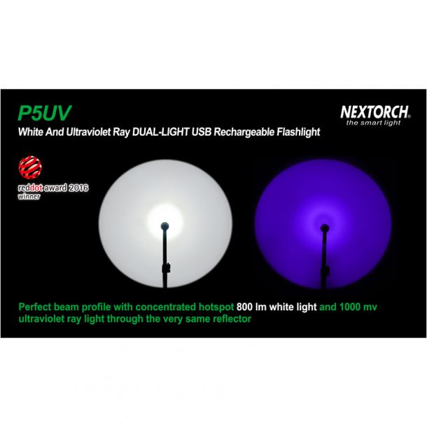 Nextorch P5 UV, ravlygte